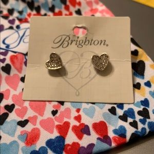 Brighton heart sterling silver earrings